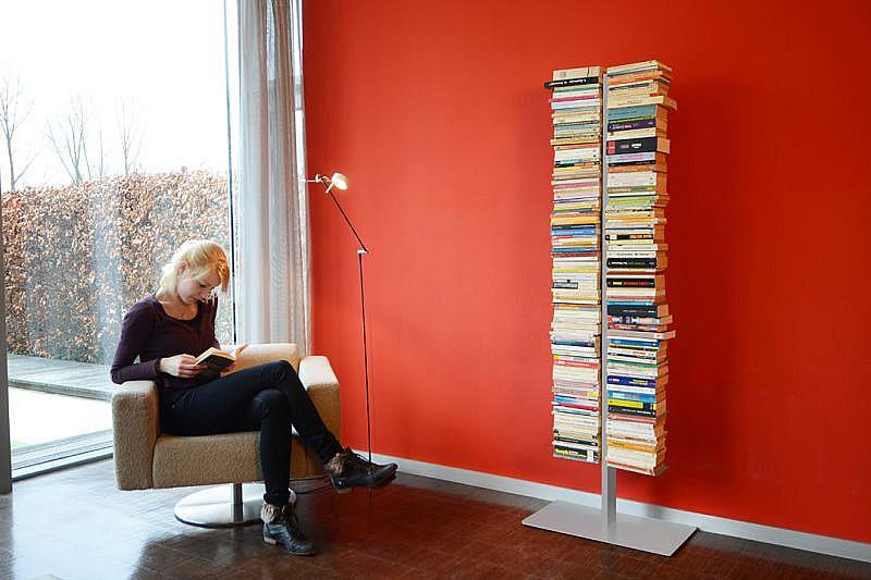 Produktové foto Radius design cologne Knihovna 16 poliček RADIUS DESIGN (BOOKSBAUM silber STAND GROSS 717C) stříbrná