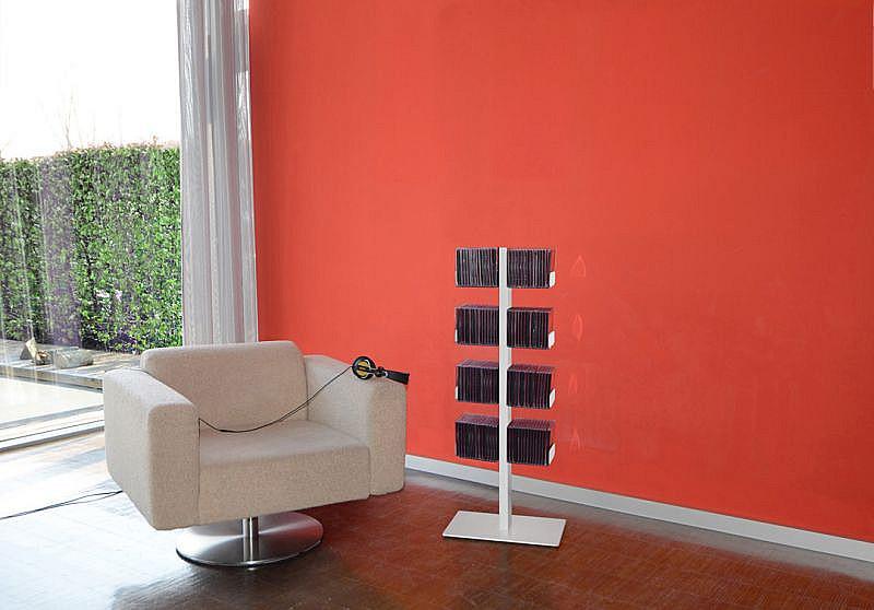 Produktové foto Radius design cologne Pořadač na CD 8 poliček RADIUS DESIGN (CD-BAUM weiss STAND KLEIN 718B) bílý