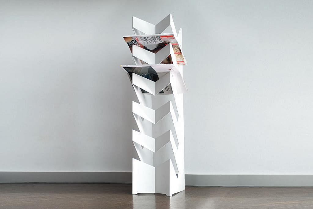 Produktové foto Radius design cologne Držák na noviny a časopisy RADIUS DESIGN (NEWS-BODEN weiss 528B) bílý