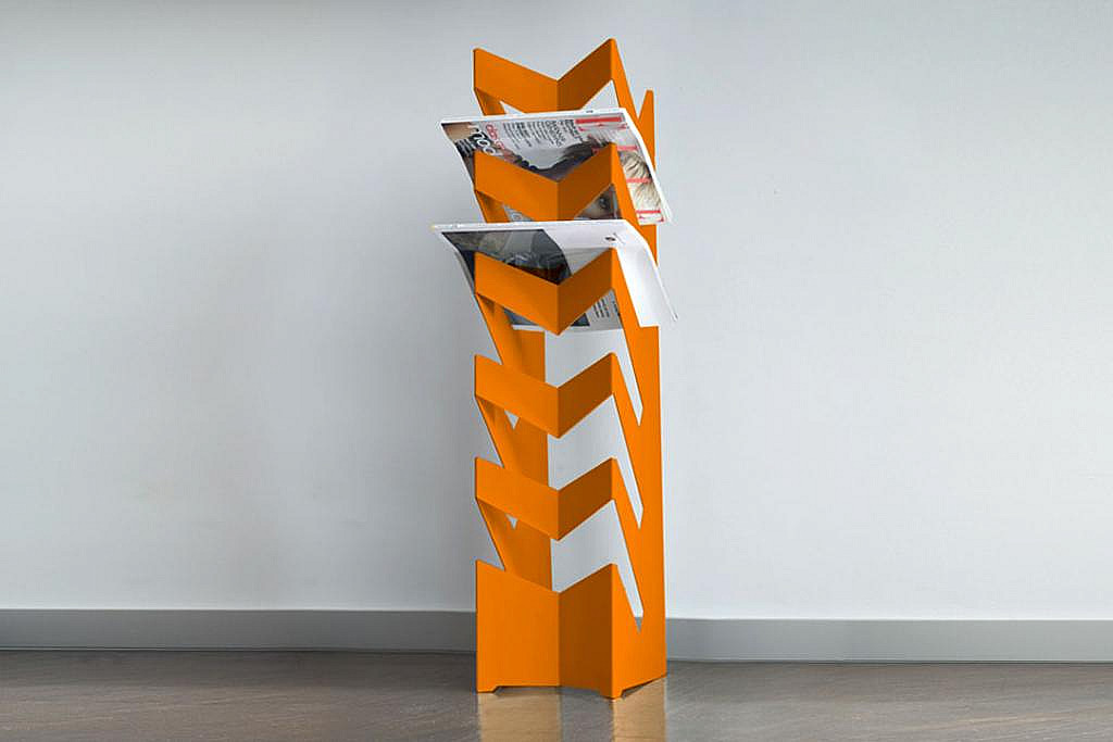 Radius design cologne Držák na noviny a časopisy RADIUS DESIGN (NEWS-BODEN orange 528D) oranžový
