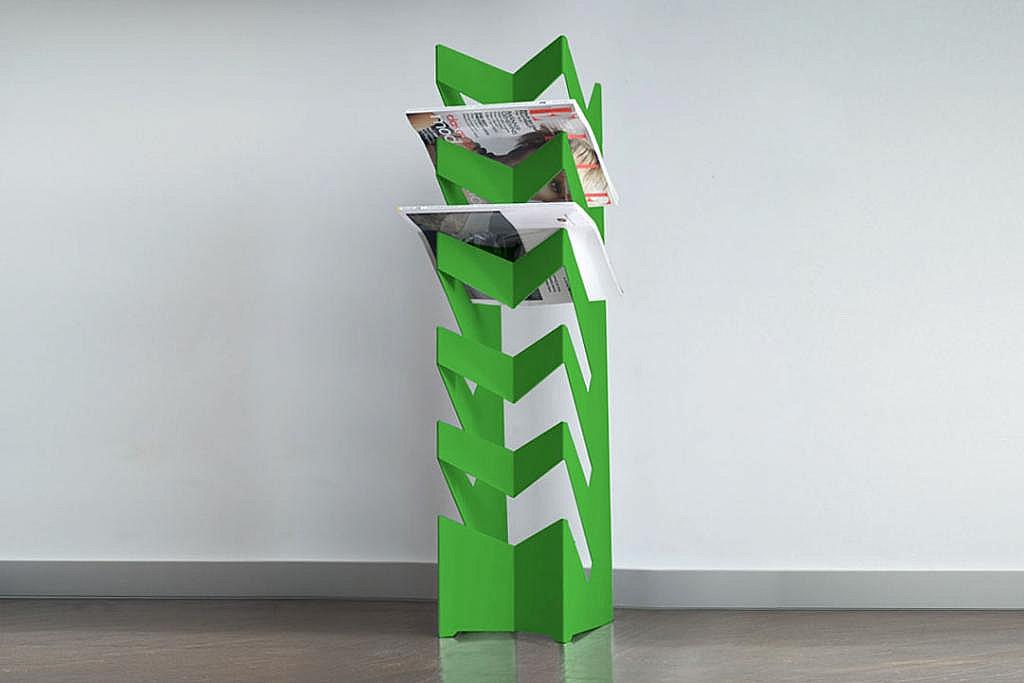 Radius design cologne Držák na noviny a časopisy RADIUS DESIGN (NEWS-BODEN grün 528E) zelený