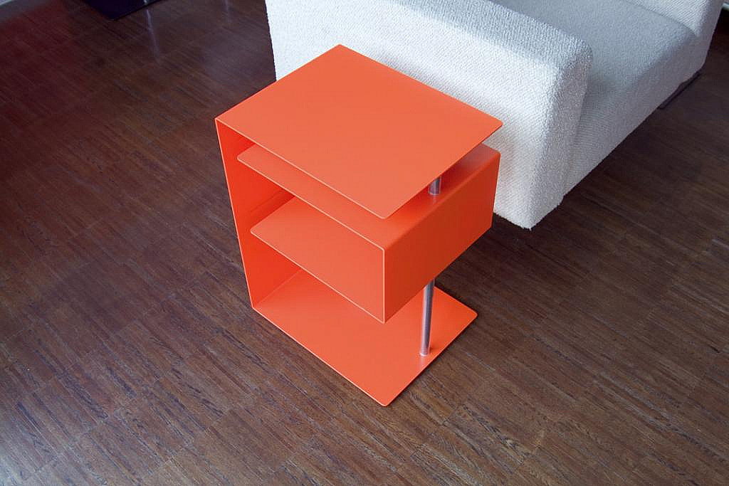 Radius design cologne Stolek RADIUS DESIGN (X-CENTRIC TABLE orange 530B) oranžový