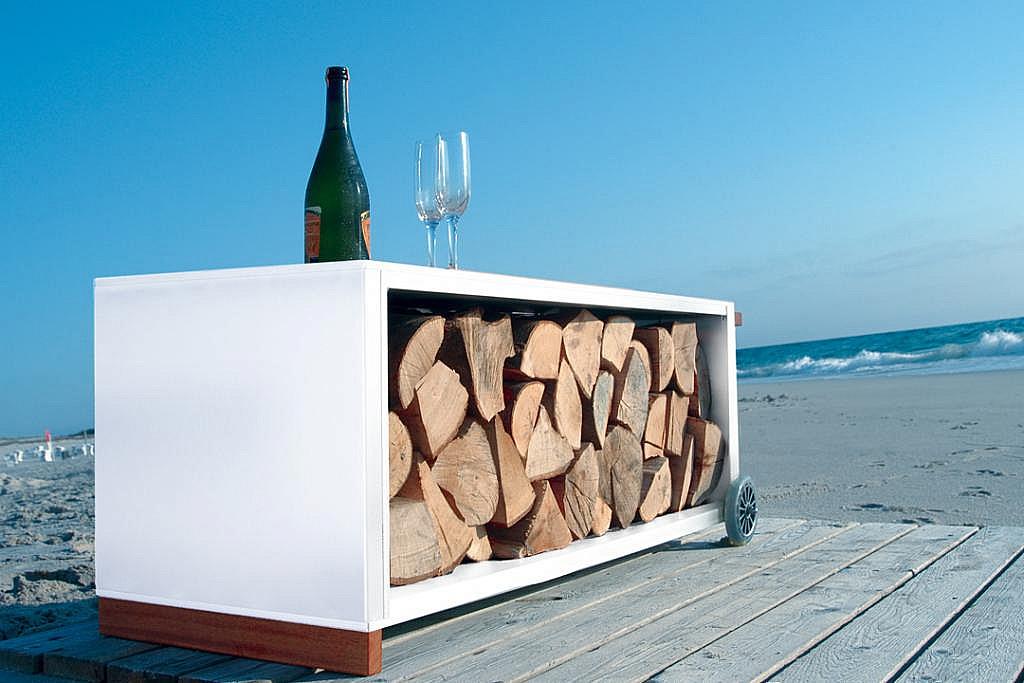 Radius design cologne Vozík na dřevo RADIUS DESIGN (KAMINHOLZWAGEN weiss 470D)  bílý
