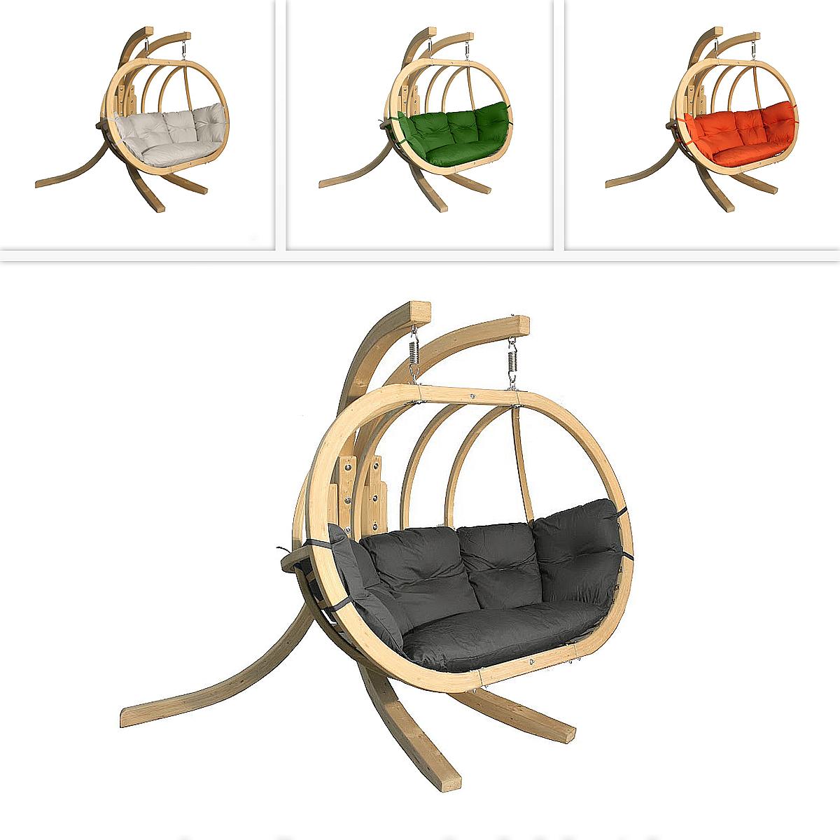 DEOKORK Houpací křeslo PETRA s nohami (různé barvy) natural