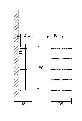 Produktové foto Radius design cologne Knihovna 10 poliček RADIUS DESIGN (BOOKSBAUM schwarz WAND 1 KLEIN 720A) černá