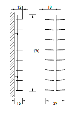 Produktové foto Radius design cologne Knihovna 16 poliček RADIUS DESIGN (BOOKSBAUM weiss WAND 1 GROSS 721B) bílá