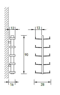 Produktové foto Radius design cologne Pořadač na CD 10 poliček RADIUS DESIGN (CD-BAUM weiss WAND 1 KLEIN 722B) bílý