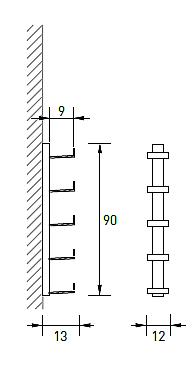 Produktové foto Radius design cologne Pořadač na CD 5 poliček RADIUS DESIGN (CD-BAUM weiss WAND 2 KLEIN 726B) bílý
