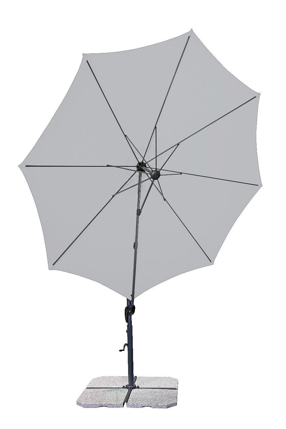 Produktové foto DOPPLER Slunečník výkyvný Doppler RAVENNA SMART 300 (různé barvy) 840 antracit