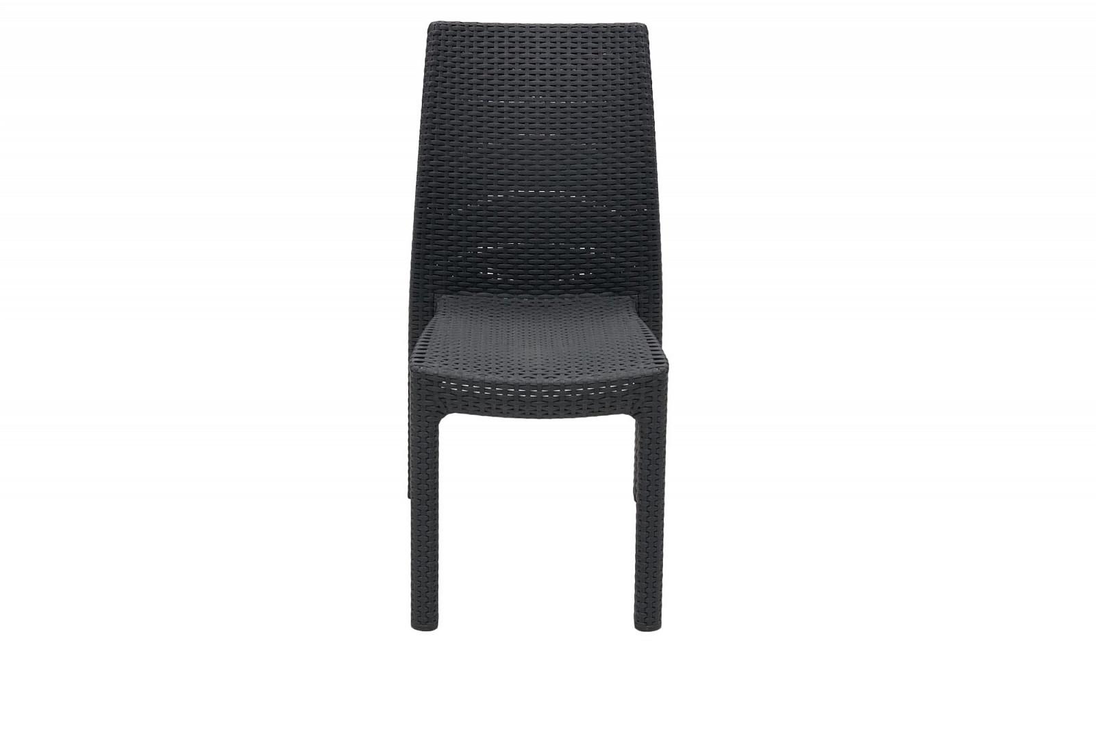 DEOKORK Zahradní židle z umělého ratanu PUKET (antracit)