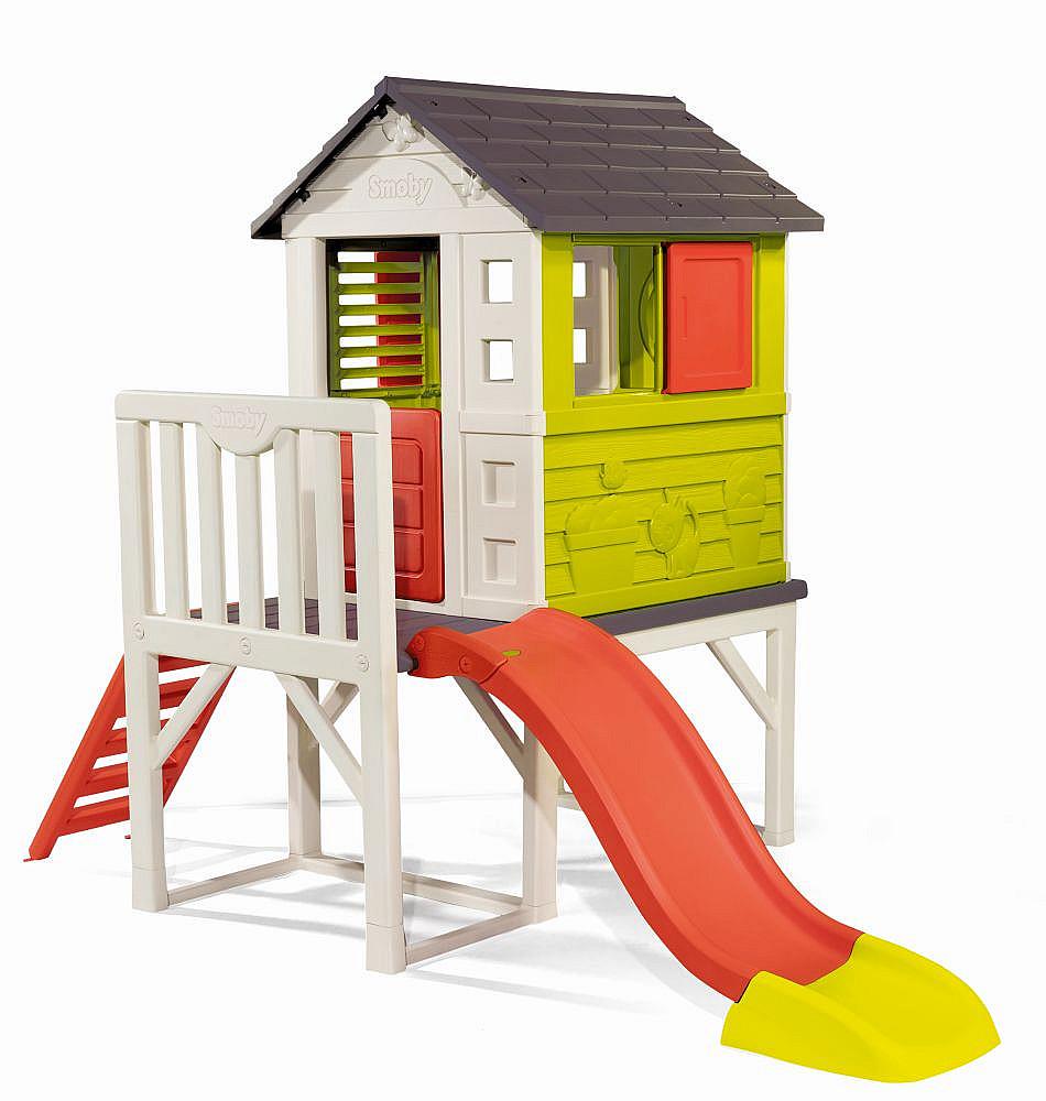 MPK Toys s.r.o. Domeček na pilířích se skluzavkou