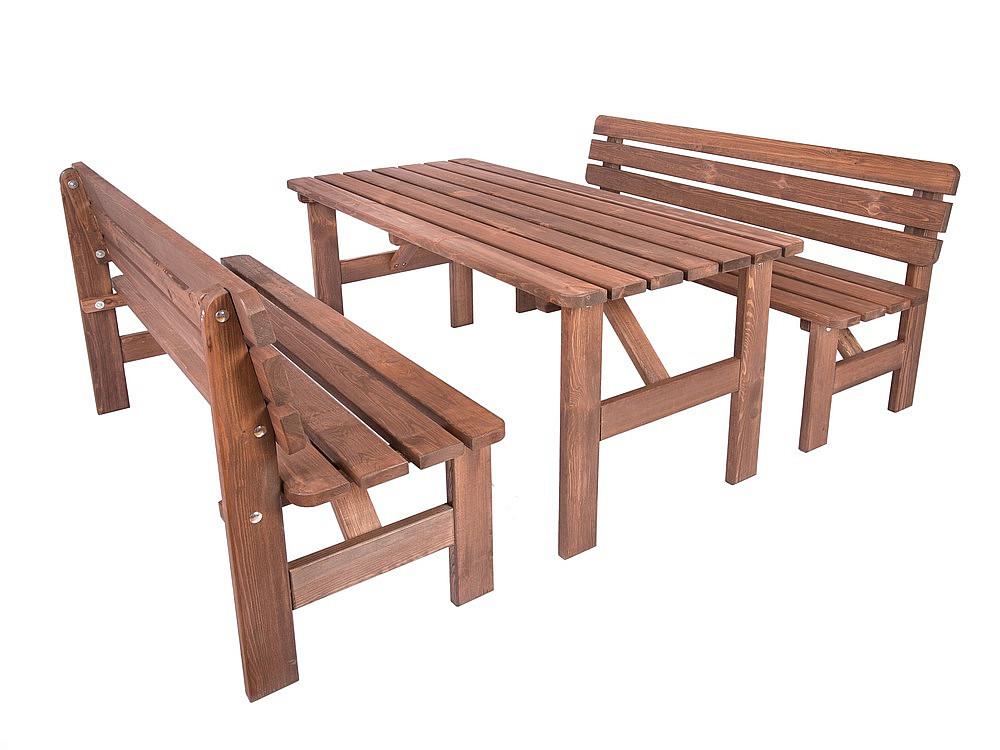 Masivní dřevěná sestava z borovice 1+2 mořená 30 mm (různé délky) 150 cm