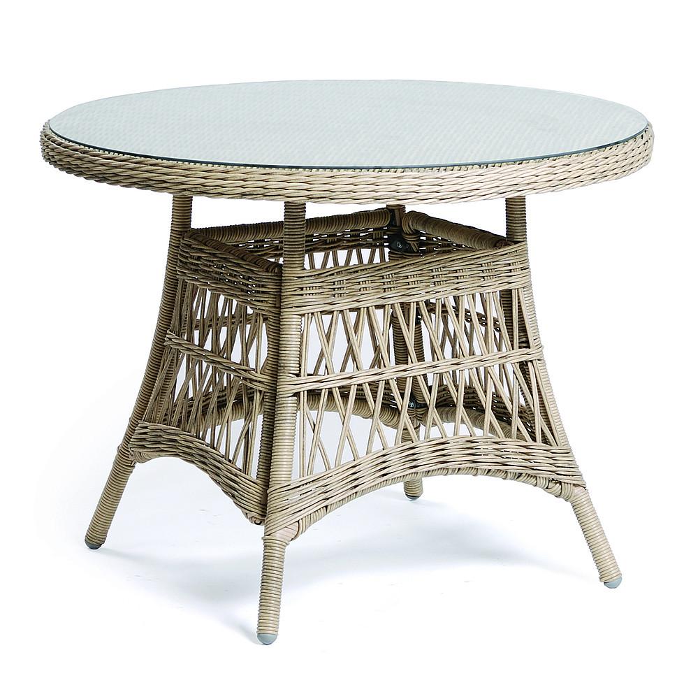 DEOKORK Zahradní stůl z umělého ratanu OXFORD ⌀100 cm