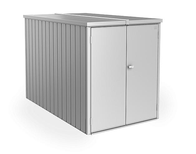Biohort Multifunkční úložný prostorný box Minigaráž (stříbrná metalíza) Minigaráž (3 krabice)
