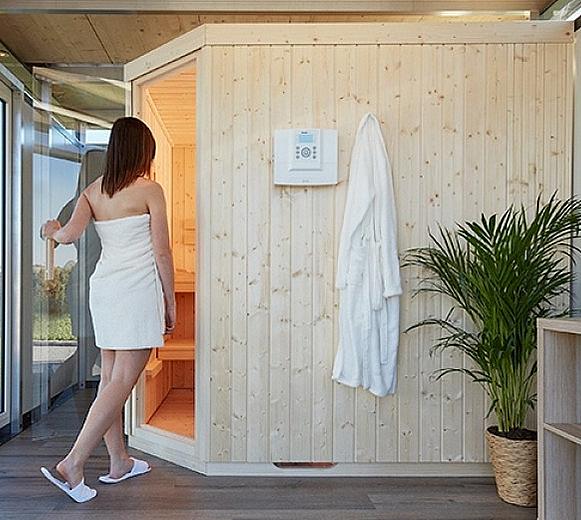 Biohort Model sauna k domkům Biohort CasaNova pozice vpravo