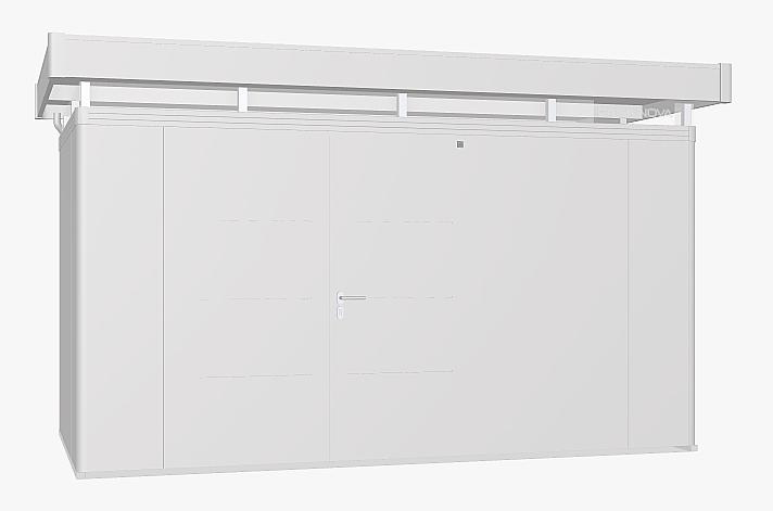 Biohort Zahradní domek BIOHORT CasaNova 430 x 230 (stříbrná metalíza) orientace dveří vpravo