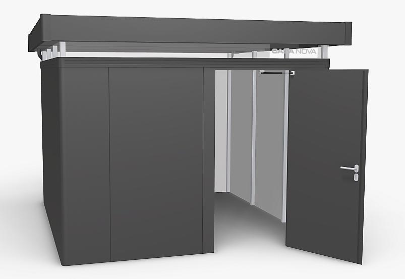 Biohort Zahradní domek BIOHORT CasaNova 330 x 330 (tmavě šedá metalíza) orientace dveří vpravo