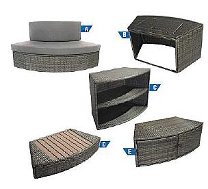NETSPA Set nábytku k vířivce VITA PREMIUM