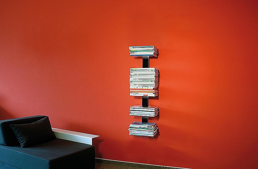Radius design cologne Knihovna na časopisy 5 poliček RADIUS DESIGN (BOOKSBAUM MAGAZINE WELL SMALL black 739A) černá