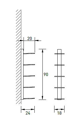 Produktové foto Radius design cologne Knihovna na časopisy 5 poliček RADIUS DESIGN (BOOKSBAUM MAGAZINE WELL SMALL white 739B) bílá
