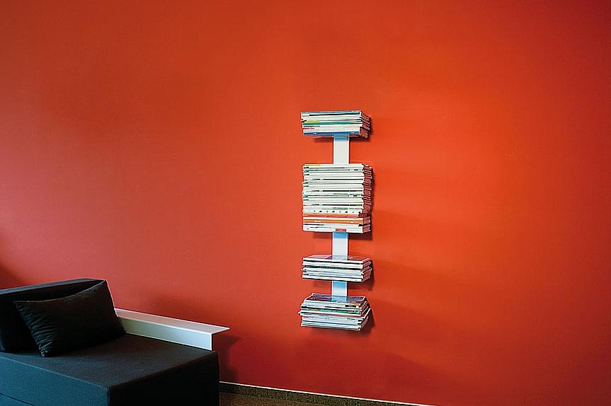 Radius design cologne Knihovna na časopisy 5 poliček RADIUS DESIGN (BOOKSBAUM MAGAZINE WELL SMALL white 739B) bílá