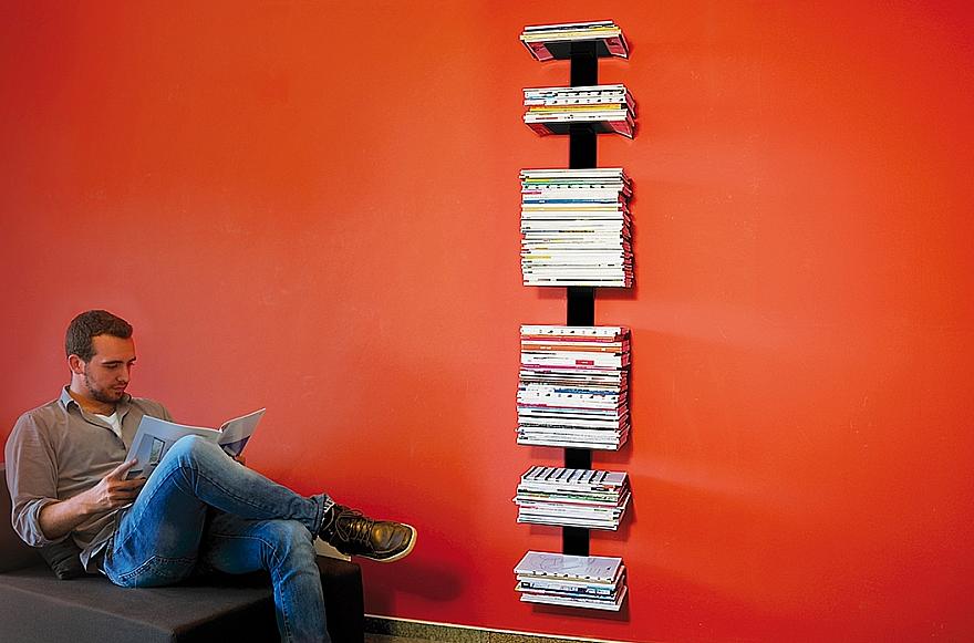 Radius design cologne Knihovna na časopisy 8 poliček RADIUS DESIGN (BOOKSBAUM MAGAZINE WALL BIG black 746A) černá