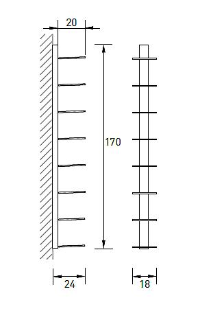 Produktové foto Radius design cologne Knihovna na časopisy 8 poliček RADIUS DESIGN (BOOKSBAUM MAGAZINE WALL BIG white 746B) bílá