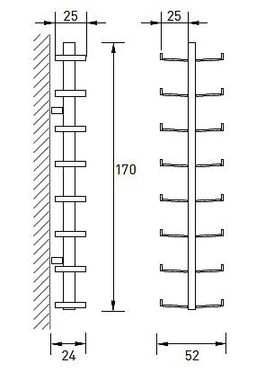 Produktové foto Radius design cologne Dřevník 16 poliček RADIUS DESIGN (WOODEN TREE WALL BIG 728A) černá