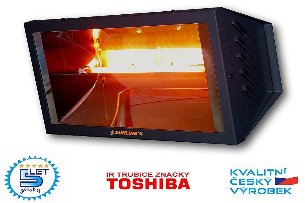 Infračervený zářič SUNLINE PROFESIONAL SP1500 (grafitový)