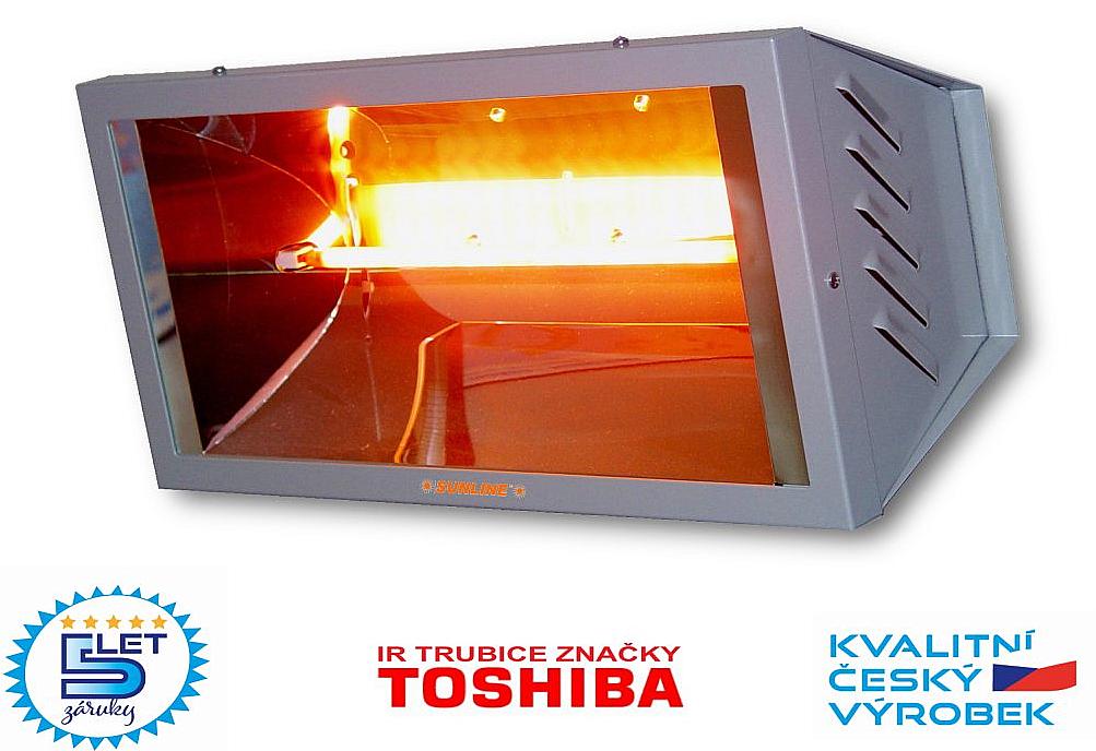 Infračervený zářič SUNLINE PROFESIONAL SP1500 (stříbrný)