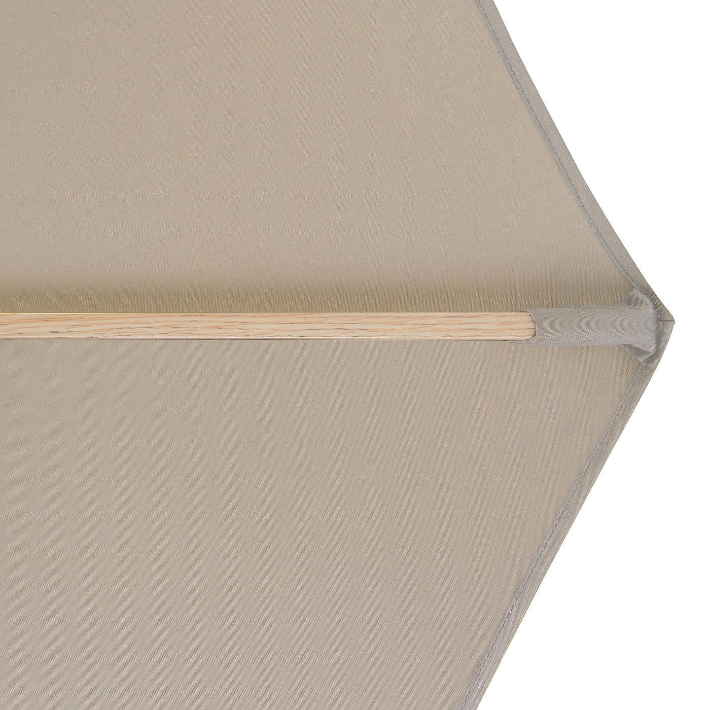 Produktové foto DOPPLER Slunečník Doppler ALU WOOD 350 cm (různé barvy) 846 greige