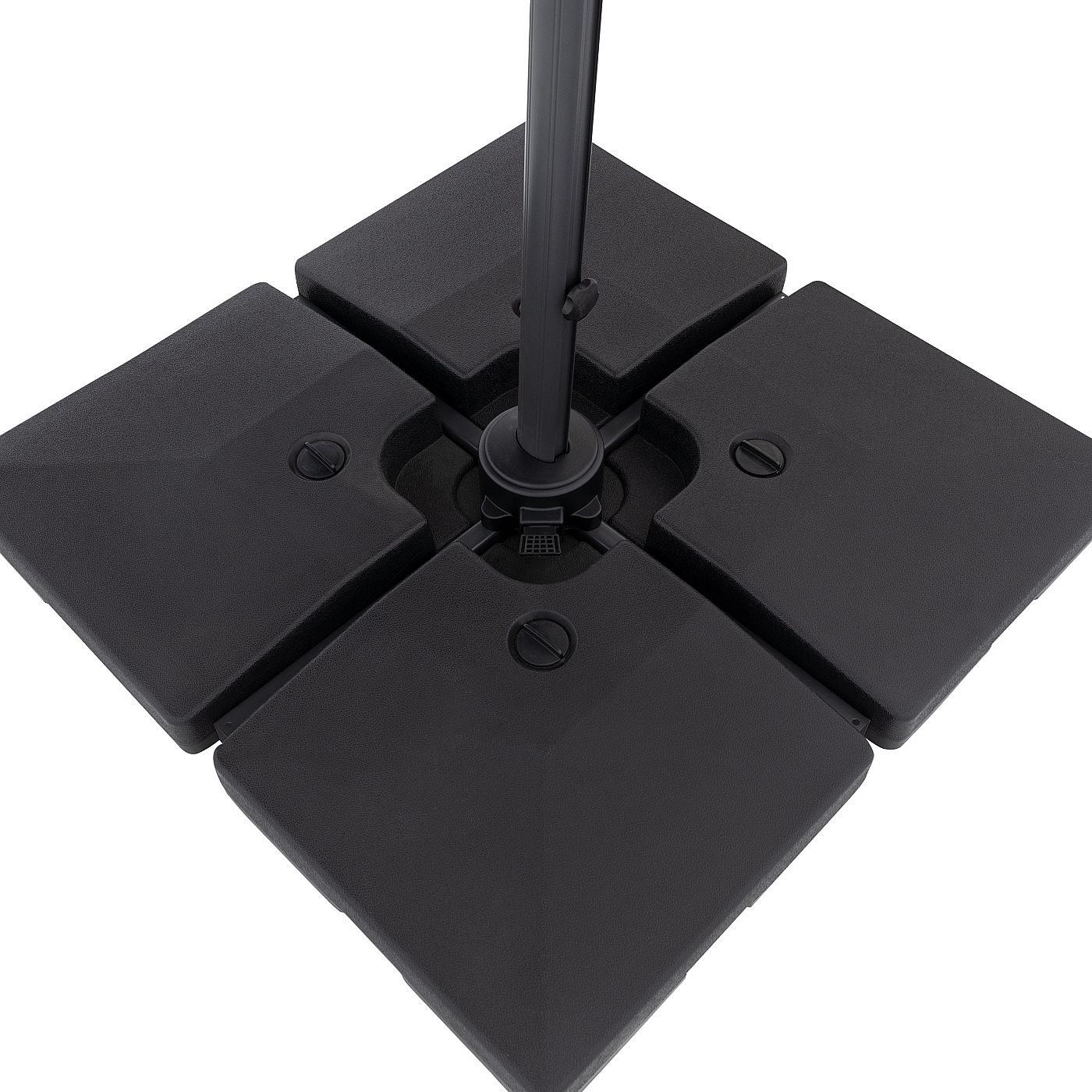 Produktové foto DOPPLER Slunečník výkyvný Doppler RAVENNA AX 250 x 250 LED (antracit)
