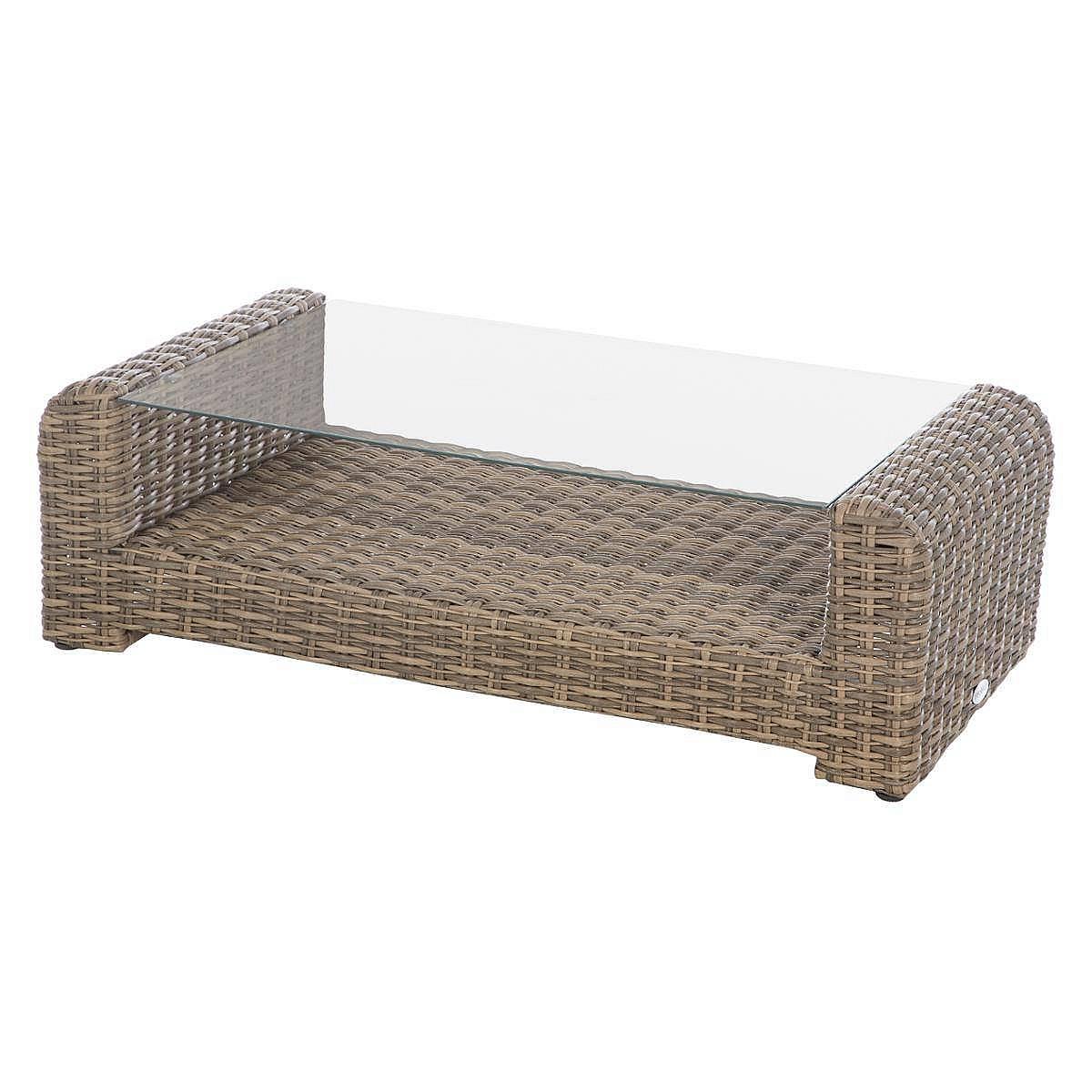 Ratanový konferenční stolek BORNEO 122 x 62 cm (hnědá)