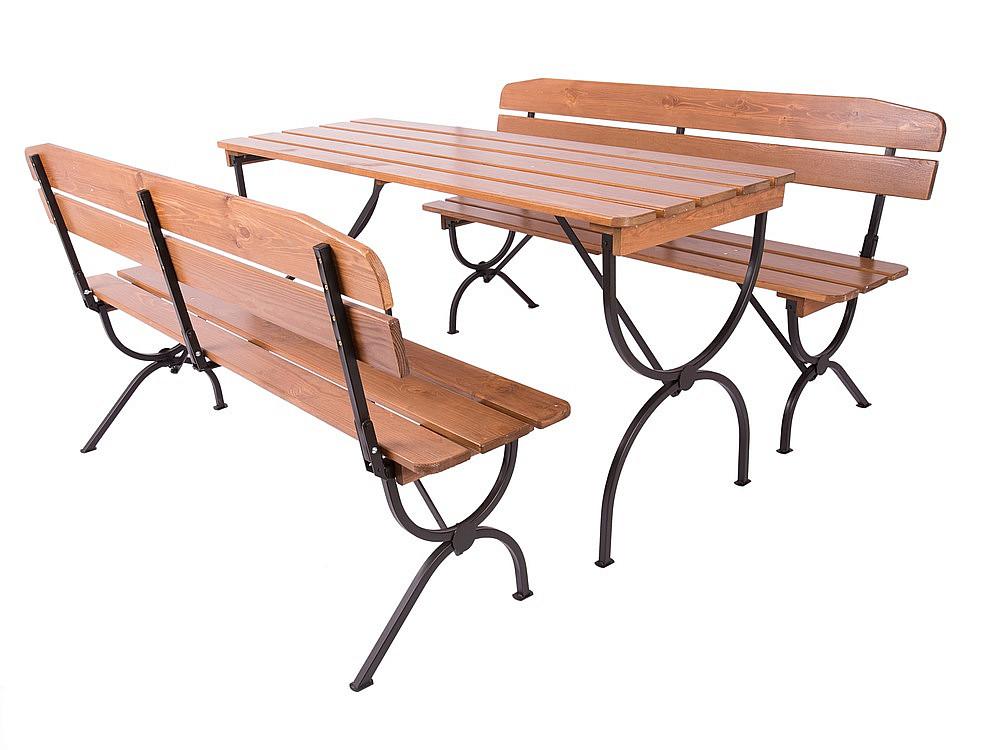 Dřevěná zahradní sestava NAXOS 1+2 (180 cm)
