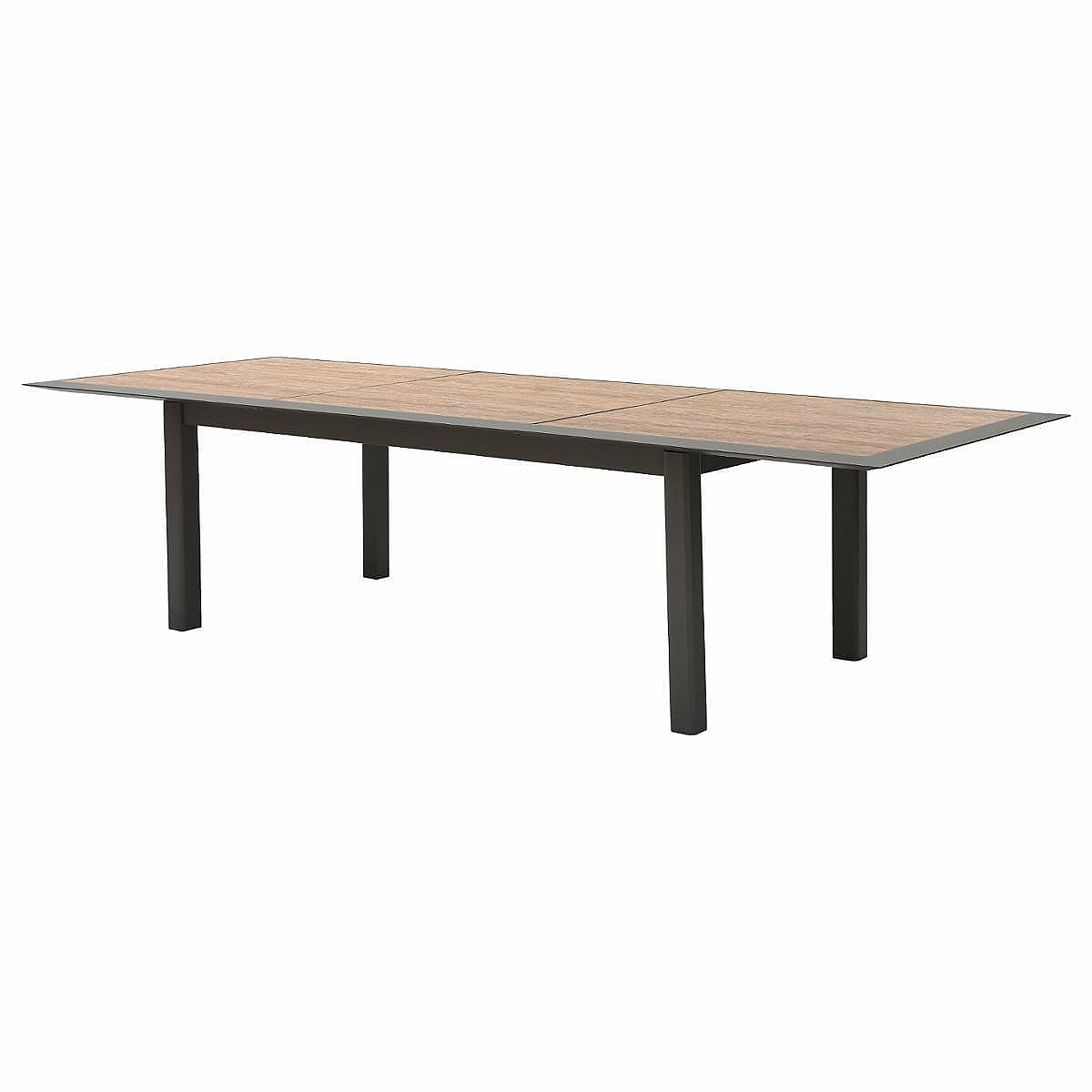 Hliníkový stůl VERMONT 216/316 cm (šedo-hnědý)