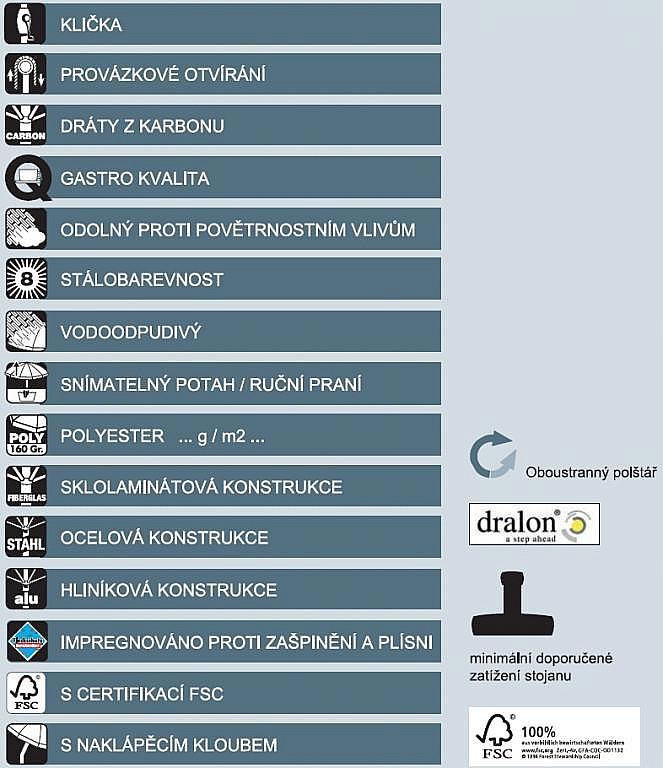 Produktové foto DOPPLER Slunečník Doppler PROFILine TELESTAR 500 820 přírodní