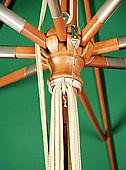 Produktové foto DOPPLER Slunečník Doppler WOODLine MONTE CARLO LUXUS 300 x 300 (různé barvy) 931 terakota