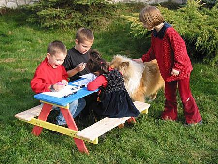 Produktové foto DEOKORK Dětská souprava z borovice KIDS