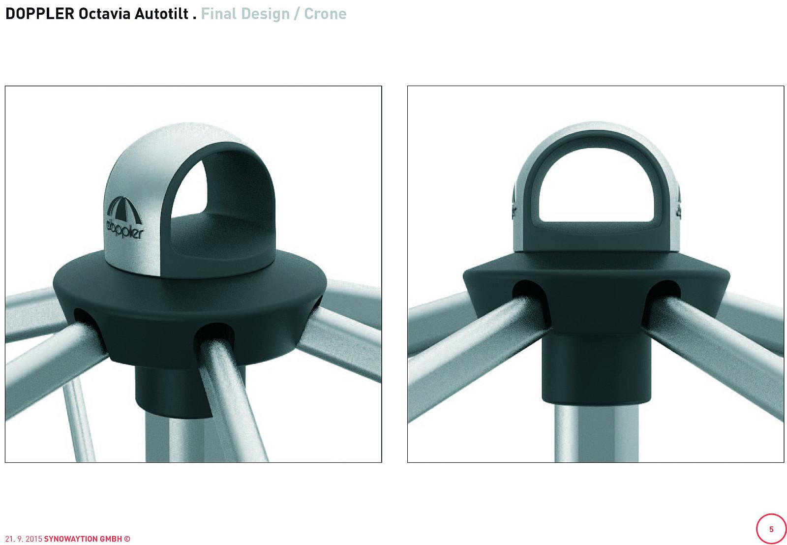 Produktové foto DOPPLER Slunečník Doppler EXPERT 300 x 200 AUTO TILT (různé barvy) 820 přírodní